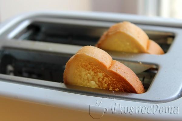 хлеб подсушиваем