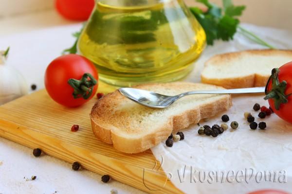 намазываем оливковым маслом