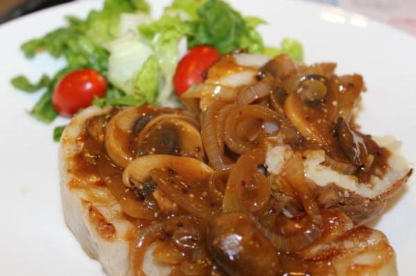 Грибной соус для стейка с горчицей
