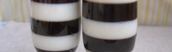 """Молочный десерт с кофе """"Зеброчка"""""""