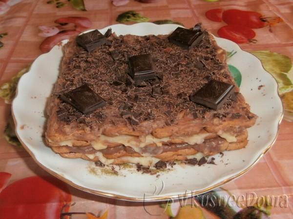 шустрый торт без выпечки из печенья