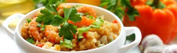 Тайский жареный рис с креветками рецепт с фото