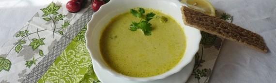 Суп пюре из брокколи диетический со сливками