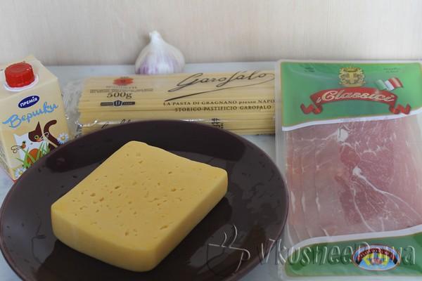 Спагетти Карбонара рецепт с фото (со сливками)