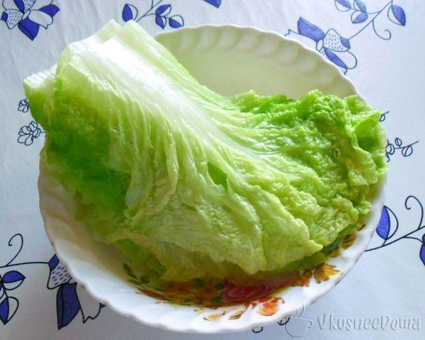 размягшие листья пекинской капусты