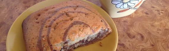 Мягкий полосатый пирог с какао рецепт с фото