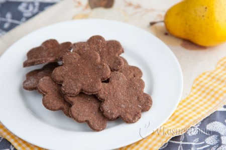 песочно-шоколданое печенье