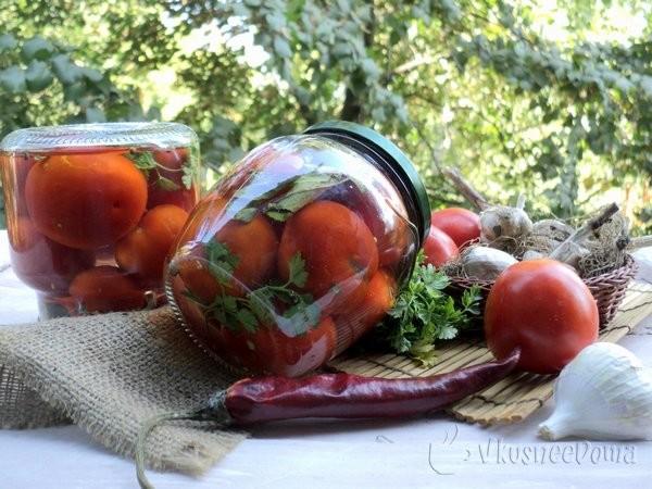 Рецепт помидоров на зиму острые