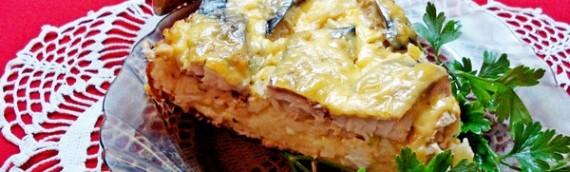 Вкусный рыбный пирог на творожном тесте со сложной начинкой