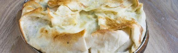 """Пирог из лаваша с сыром в духовке а-ля """"быстро"""""""