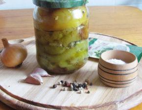 Вкусный болгарский перец в масле на зиму с чесноком