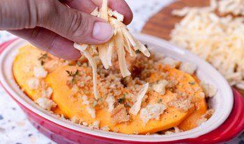 Приготовление гратена из картофеля с тыквой