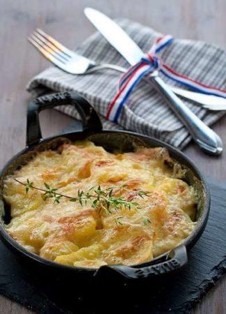Гратен из картофеля со сливками