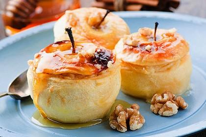 запечённые яблоки в духовке с мёдом