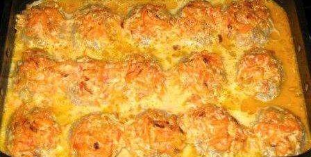 ленивые голубцы печь