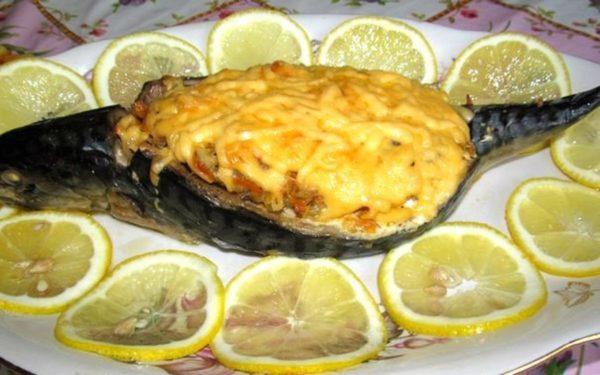 Скумбрия с сыром