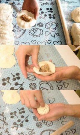 Завернуть фарш в тесто