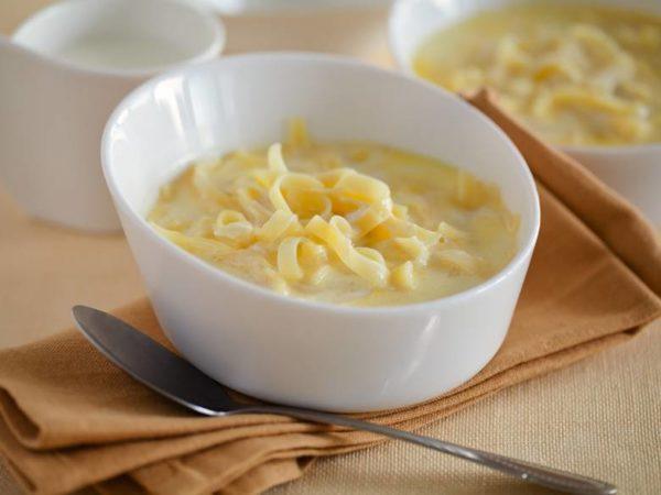 Молочная лапша с сыром